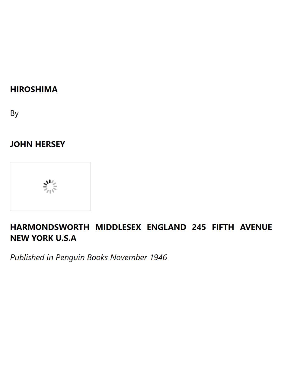 Hiroshima - John_Hersey