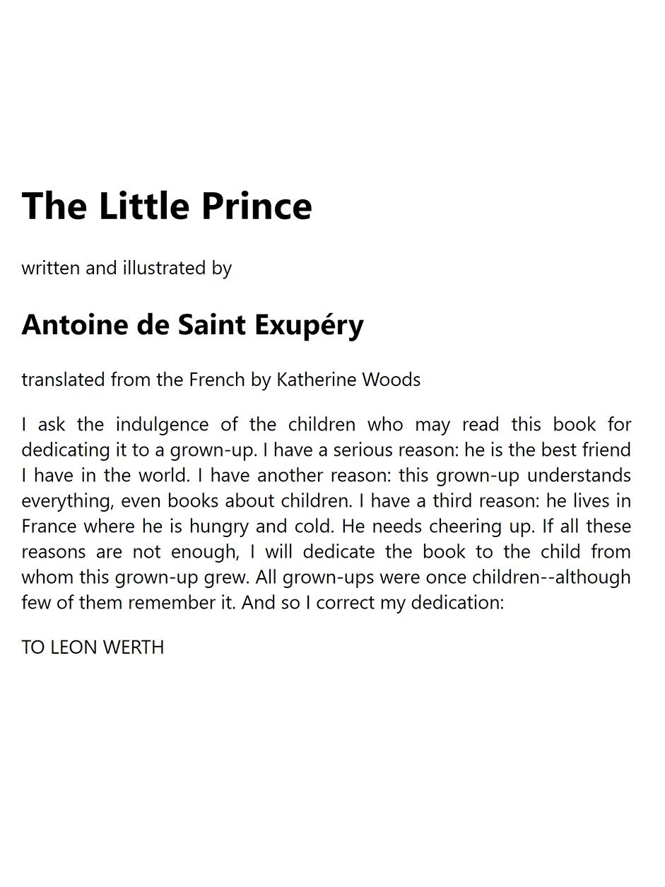 The Little Prince A1 - Antoine de Saint-Exupery